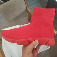 Designers Sock Shoes Pure Red Fashion Casual Shoe Speed Trai...