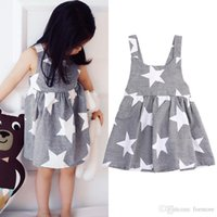 Dresses For Girls 2017 Girl Solid Sleeveless Dress Kids Summ...