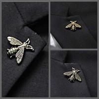 Stile britannico Retro Animal Honey Spilla Pin per Mens Suit Tie Hat Risvolto Piccola taglia Ape Badage Vintage Unisex Breastpin All'ingrosso Broccia