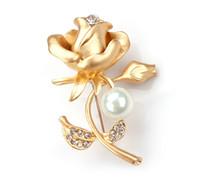 2018 floreale di cristallo Pin Rose scroscio Spilla Designer Spille distintivo dello smalto del metallo Pin Broche donne di lusso gioielli feste
