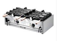 Высокая эффективность мороженого создатель taiyaki машина/создатель taiyaki вафельница/большой Рыб формы торт прессформы цена машины LLFA