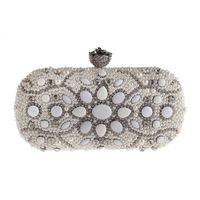 Pearl Small Bag Set Diamond Diner Party Bag Europese en Amerikaanse Mode Ketting Bruids Handtassen
