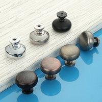 "7Colors 1- 3 16"" Metal Round Cabinet Knob Cupboard Door ..."