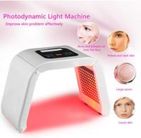 4 цвета доступны красота лица фотодинамическая лампа PDT LED Light Therapy Machine акне морщины удалить омоложение кожи СПА нестареющий PDT терапия