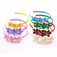 Cute Solid Color Stars Hair Band Kids Beautiful Rhinestone H...