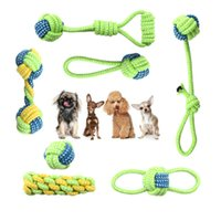 Cotton Dog Rope Toy Knot Puppy Chew Teething Toys Teeth Clea...