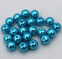 Más baratos colores de la mezcla de vidrio redonda perlas joyería que hace DIY para la pulsera collar de 6 mm.