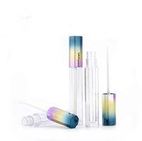5ml Elegante Leere Octagonal 3 Color Gradient Lipgloss Rohr Lipgloss kosmetischer Behälter Flüssigkeit Lippenstift Vorratsflasche SN1600