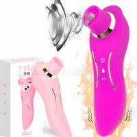Heizung 12 Saug 24 Vibration Nippel Sucker Clit Pussy Pumpe Weibliche G-punkt Vibratoren Klitoris Stimulator Oral Sex Spielzeug Für Frauen S18101905