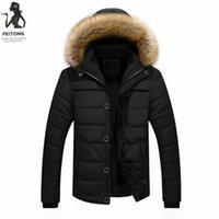Winter Men Parka Outwear Warm Winter Thick Jacket Plus Fur H...