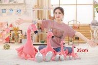1PC 35CM swan plush toys cute flamingo doll stuffed soft ani...