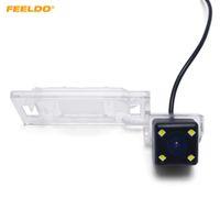 Резервное копирование FEELDO Специальная автомобильная камера заднего вида с 4LED свет для Audi A4L / TT / A5 / Q5 09-12 камера заднего вида # 2925