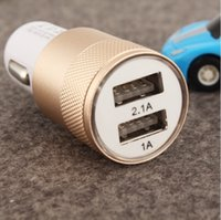 Best Metal Dual USB Port Car Charger Universal 2Amp for Appl...