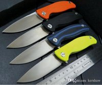 Shirogorov F3 de caza aleta cuchillo D2 G10 de la lámina asa plegable que acampa cuchillos del cuchillo de navidad 1pcs