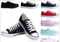 NOUVELLE taille 35-46 Nouveau Unisexe Low-Top High-Top Adulte des Femmes des Hommes Chaussures de Toile 13 couleurs Lacé Up Casual Chaussures Sneaker chaussures de détail