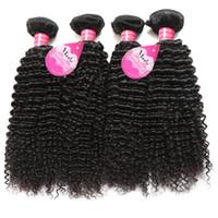 Бразильские Перуанские Малайзийские Волосы Природные Вьющиеся Человеческие Джерри Локон Волос Ткет 4 Пучка Необработанных Vrigin Наращивание Волос Для Черных Женщин