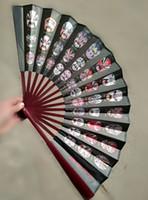 빈티지 대형 대나무 접는 실크 팬 전통 공예 장식 팬 중국 선물 장식 1pcs에 대 한 팬 보유