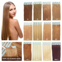 "100% Human Hair Tape in Hair Extensions 16"" - 24"" 20..."