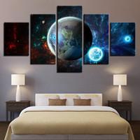 HD Modular Pictures Wall Art Home Decoration Афиши 5 Панель Земля Пейзаж Гостиная Печатный Современная Живопись Холст