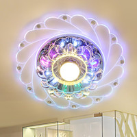 Modern LED Crystal Ceiling Light Circular 3W 5W Mini Ceiling...