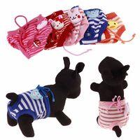 ملابس أنثى كلب الحيوانات الأليفة الجرو القطن تشديد داخلية الشريط موجز الاخبار الصحية الكلب الحفاظات الفسيولوجية السراويل حفاضات القصير