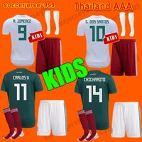 Thailand MEXICO KIDS SOCCER JERSEYS kit 2018 world cup away ...