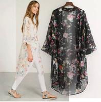 2018 mulheres verão guardas floral impressão chiffon manga longa cardigan mulheres blusa de moda grávida maternidade roupas tops
