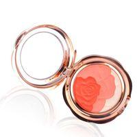 Порошок розового росного порошка запеченные порошкообразные макияж для выпечки с слоеным бронзором испеченной палитрой цвета щека