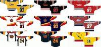 Personalizado 1988 89-1995 96 Ohl Mens Mulheres Crianças Branco Vermelho Laranja Azul Stiched Erie Logos 2013 14-2015 16 Ontário Hockey League Jersey