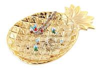 Керамическая тарелка с ананасами Дисплей для ювелирных изделий Поднос Фрукты Еда Блюдце Хранение Блюдо Салат Снэк Десерт Блюдо декора стола Ананасовая посуда