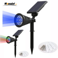 DHL ship New 4 LED Solar Power Lights Garden Lawn Lamp Lands...