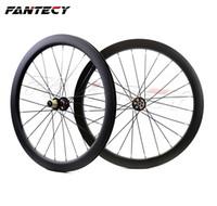 Fantecy 700c 50 ملليمتر عمق الطريق دراجة قرص الفرامل عجلات الكربون 25 ملليمتر عرض الفاصلة / أنبوبي cyclocross الكربون العجلات مع محاور سحب مستقيم