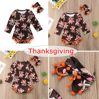INS 0- 24M Cute Thanksgiving Kids Baby Girls Long Sleeve Turk...