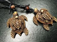 Бесплатная доставка yqtdmy 12 шт. племенной Черепаха детские регулируемые черный веревку байкер ожерелье