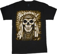 Summer 2018 New Native American Indian t- shirt head dress az...