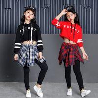 Мода дети сценическое представление одежда Джаз танцевальные костюмы 2 шт. Набор свободные хип-хоп танцевальная одежда уличный танец DWY279
