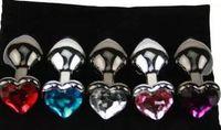 Prodotti del sesso della spina anale della spina di estremità del bottone del metallo del tasto del cuore per il prodotto adulto erotico del sesso dei grandi uomini del gioco erotico 85 * 32mm