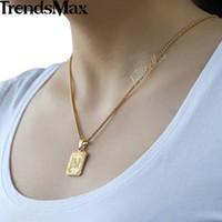 Trendsmax A-Z 26 رسائل الأولية قلادة سحر المرأة قلادة فضية الذهب روز الذهب والمجوهرات للنساء الرجال GP36