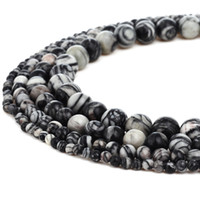 Natural Map Jasper Stone Beads Round Gemstone Loose Beads fo...