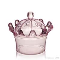 Yaratıcı Taç Şekli Şeker Kutusu Yuvarlak Şekil Plastik Bebek Duş Malzemeleri Şeffaf Düğün Hediye Wrap Süslemeleri 0 97sq ii