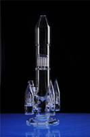 17 дюймов ракета ручной работы кальян кальян DAB нефтяной установки водяной трубку 18 мм совместные большие стеклянные бонги