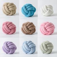 Almohadas decorativas para sofá Cojines de almohada H0500 almohadillas de bolas anudadas MAS BARATAS Decoración de 15 colores