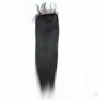 """130% перуанский прямые девственные человеческие волосы топ кружева закрытия 4 """" X4 """" бразильский тела волна кружева закрытия кусок натуральный черный мягкий Реми волос 12 дюймов"""