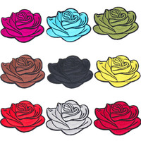 Gehorsam Rose Blume Rot Zum Aufbügeln Aufnäher Gestickte Abzeichen Buttons & Pins