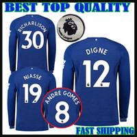 2018 2019 camiseta de fútbol de everton manga larga casa azul 18 19 DIGNE  Walcott Sigurdsson 2f7417bdd7e76