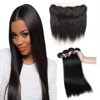 Ishow Wholesale Cheap 8A Straight Hair 4pcs With Lace Fronta...