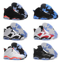 KIDS 6 carmine BASKETBALL SHOES 2018 6s UNC BLACK BLUE WHITE...