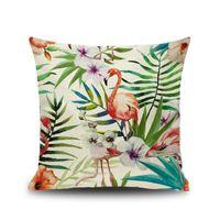 7 Stlye Cartoon Flamingo Style Funda de Almohada Aves Coloridas Hojas de Almohada Cubierta Animal Lindo Impresión Funda de Cojín Regalo de Los Niños YC2487B