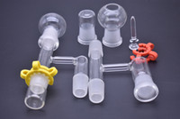 Adaptateur en verre de 14mm 18mm mâle femelle en verre pour huile kit de reclaimer avec clou et dôme
