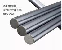 10 шт. / лот 10x900mm диаметр 10 мм линейный вал 900мм долго закаленный вал подшипник хромированный стальной стержень бар для 3D принтер частей cnc маршрутизатор